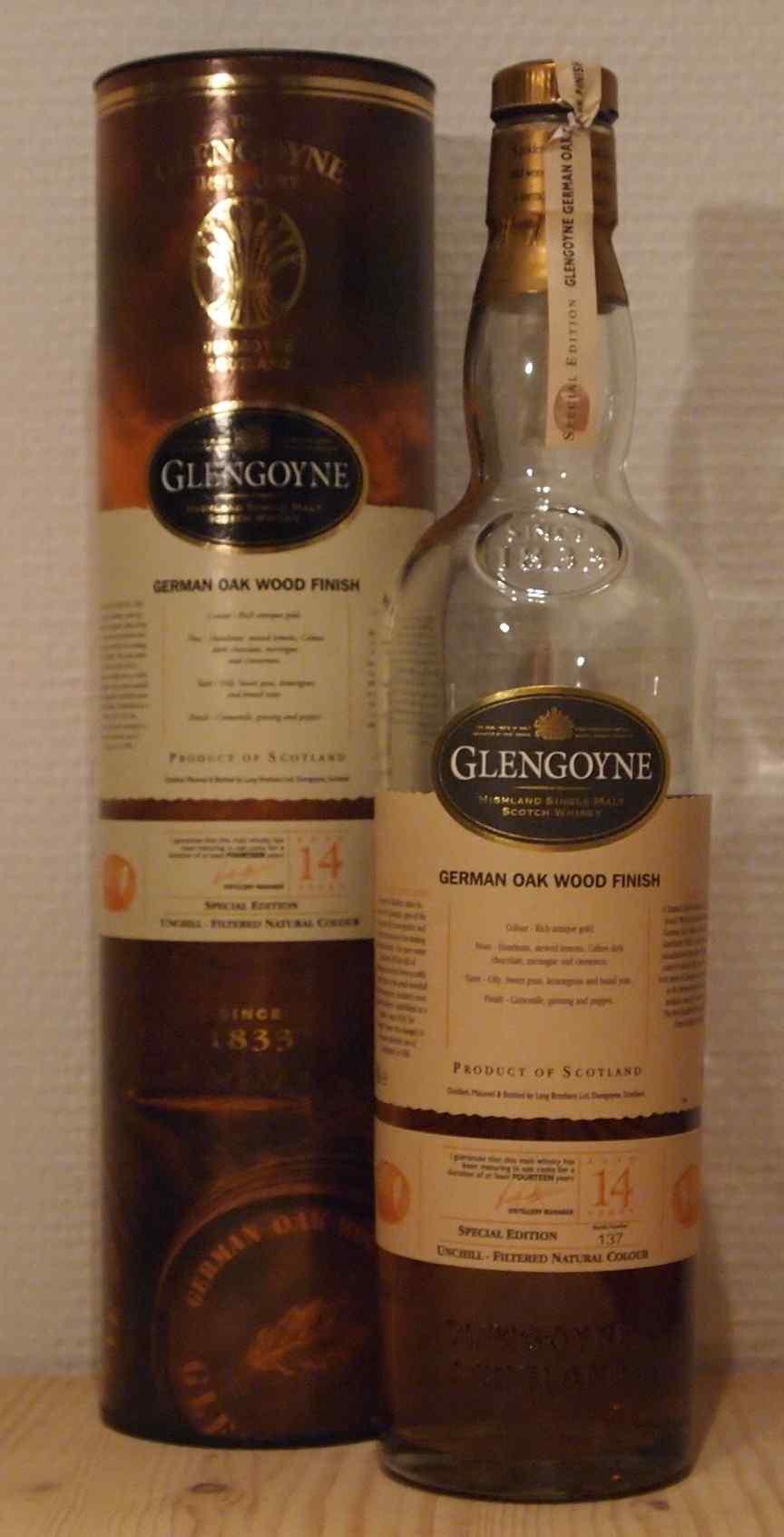 Single Malt Whisky Glengoyne 14yo German Oak