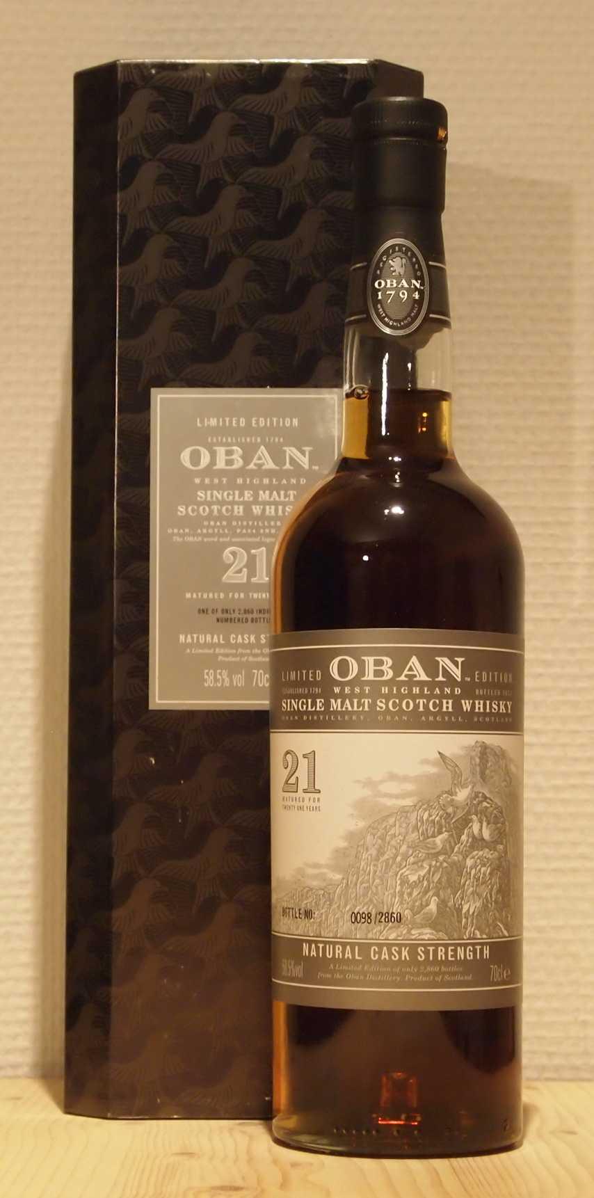 Single Malt Whisky Oban 21yo Special Release 2013