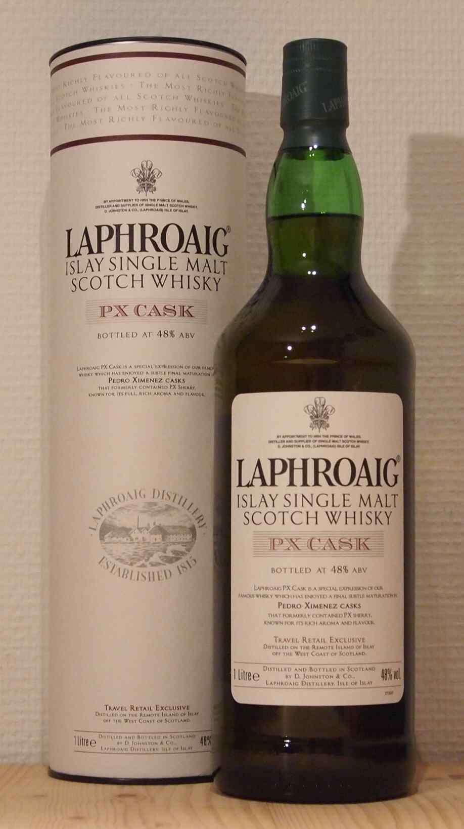 Single Malt Whisky Laphroaig PX Cask, ca. 2012