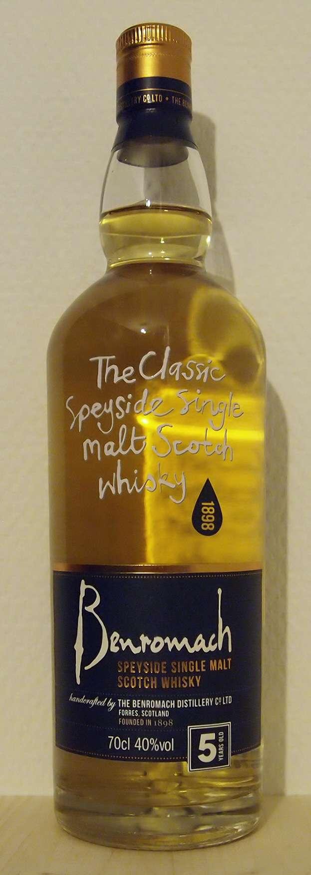 Single Malt Whisky Benromach 5yo