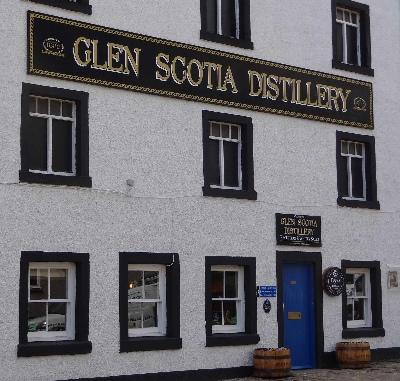 Fassade Glen Scotia Brennerei Destillerie