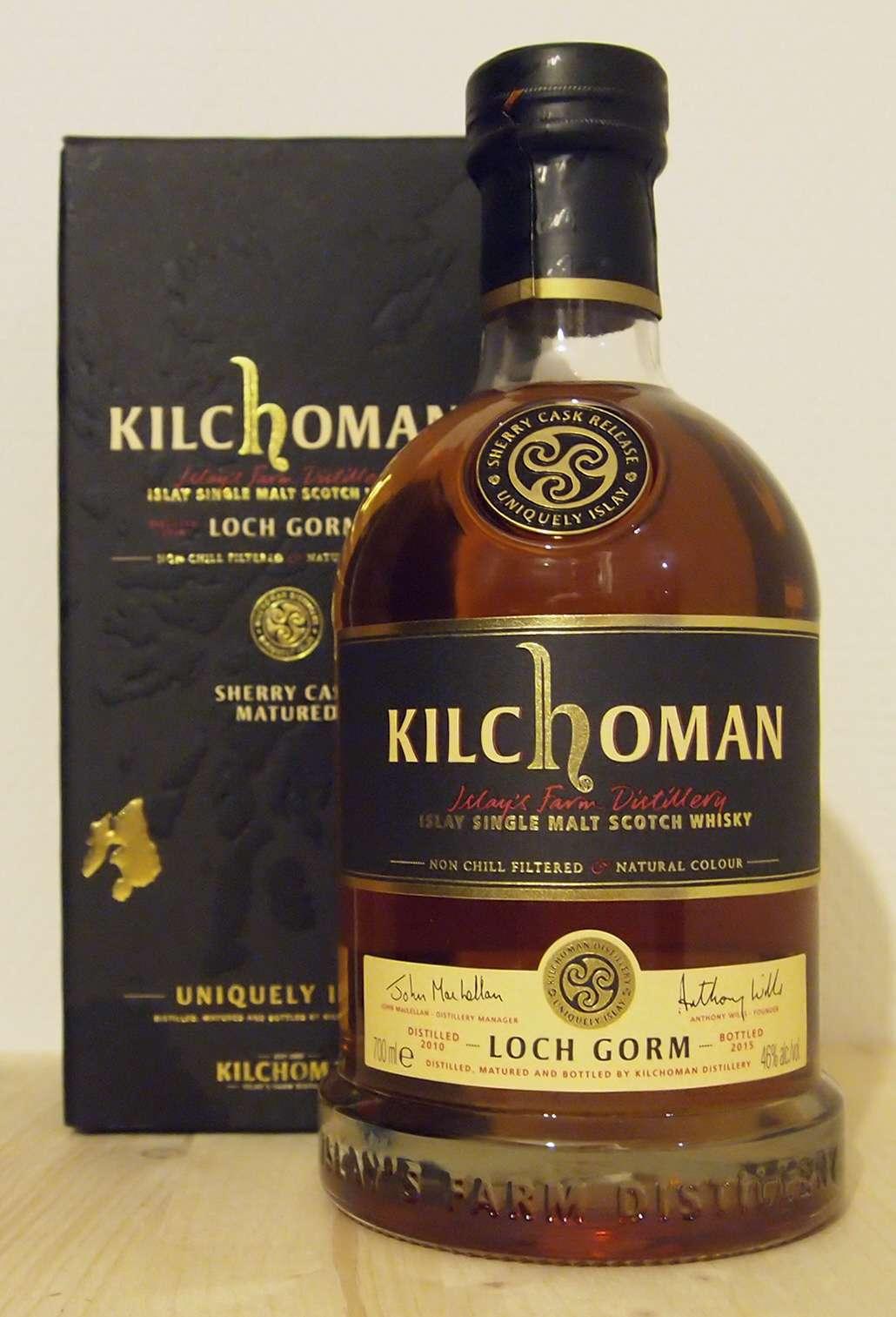 Single Malt Whisky Kilchoman Loch Gorm, 2015