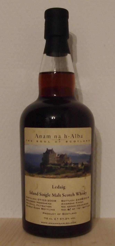 Single Malt Whisky Ledaig 10yo, Anam na h-Alba, 2008
