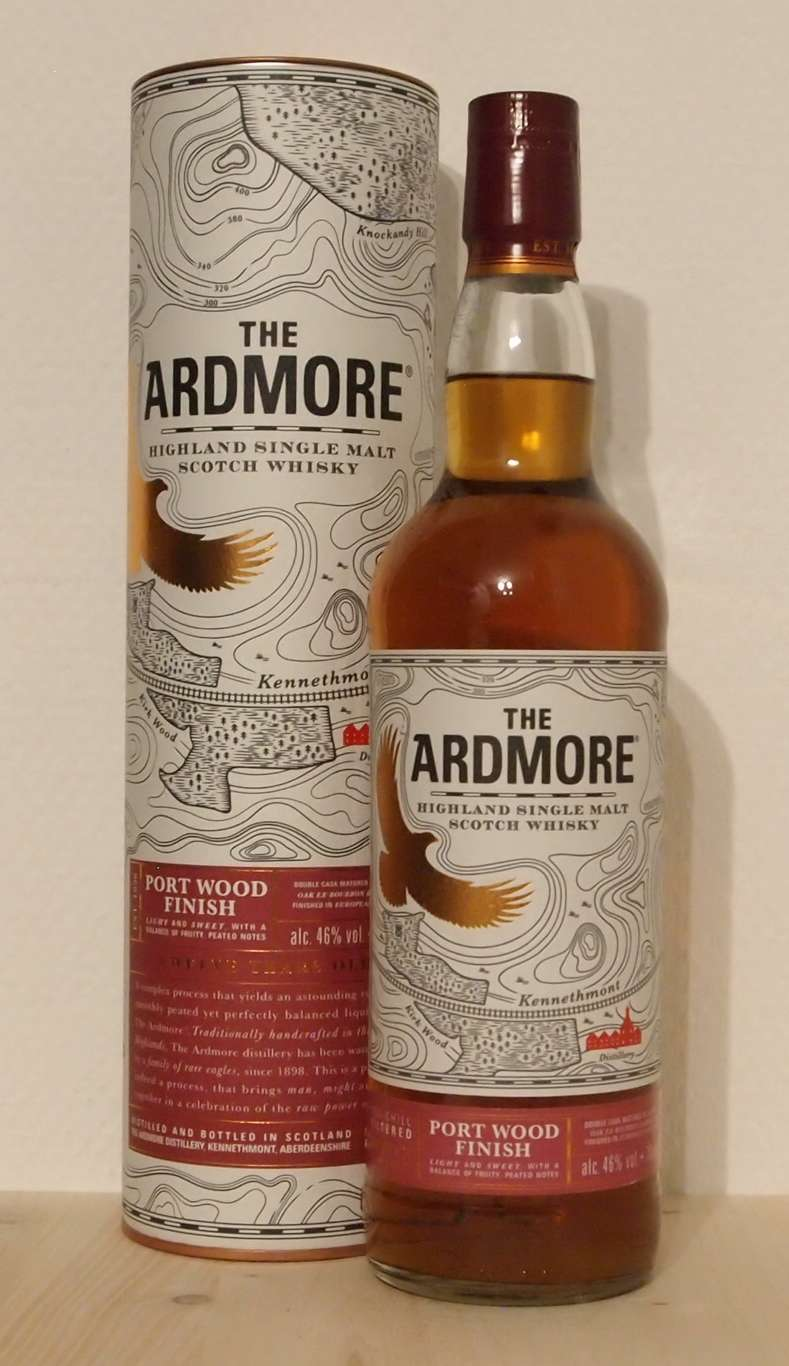 Single Malt Whisky Ardmore 12yo Port Wood Finish, 2015
